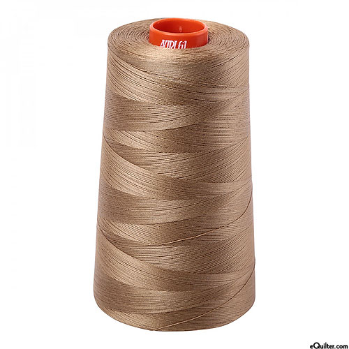 Brown - AURIFIL Cotton Thread CONE - Solid 50 Wt - Toast