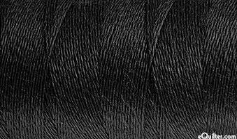 AURIFIL WOOL/Acrylic Thread - Solid 12 Wt - Black
