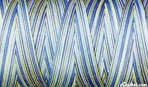 Variegated - AURIFIL Cotton Thread - 28 Wt - Lemon Blueberry