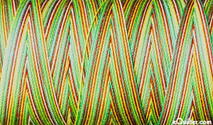 Variegated - AURIFIL Cotton Mako - 28 Wt - Leaves