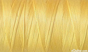 Yellow - AURIFIL Cotton Thread - Solid 50 Wt - Medium Butter