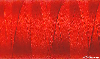 Red - AURIFIL Cotton Thread - Solid 50 Wt - Paprika Red