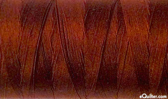 Brown - AURIFIL Cotton Thread - Solid 50 Wt - Dk Rust