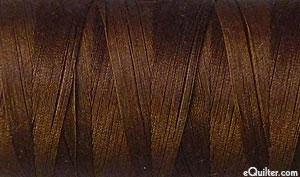 Brown - AURIFIL Cotton Thread - Solid 50 Wt - Very Dark Brown