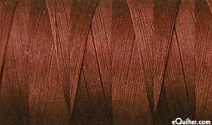 Brown - AURIFIL Cotton Thread - Solid 50 Wt - Dk Port Wine