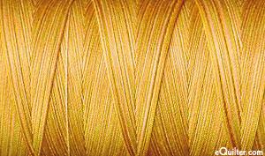 Gold - AURIFIL Cotton Thread Variegated - 50 Wt- Crème Brule