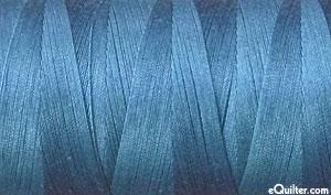Blue - AURIFIL Cotton Thread - Solid - 50 Wt - Smoke Blue
