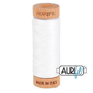 Basic - AURIFIL Cotton Thread - Solid 80 Wt - White