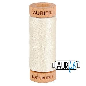 Cream - AURIFIL Cotton Thread - Solid 80 Wt - Shimmer
