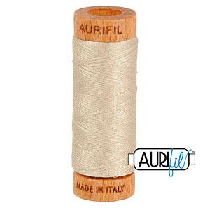Natural - AURIFIL Cotton Thread - Solid 80 Wt - Ermine
