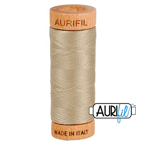 Natural - AURIFIL Cotton Thread - Solid 80 Wt - Tea Dye