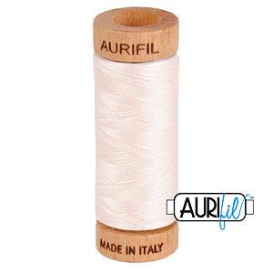 Pink - AURIFIL Cotton Thread - Solid 80 Wt - Pearl