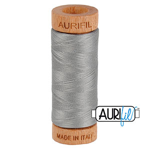 Gray - AURIFIL Cotton Thread - Solid 80 Wt - Steel Gray