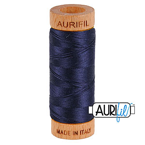 Blue - AURIFIL Cotton Thread - Solid 80 Wt - Very Dk Navy
