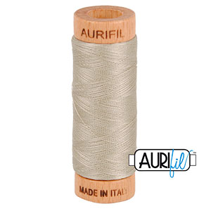 Natural - AURIFIL Cotton Thread - Solid 80 Wt - Rope Beige