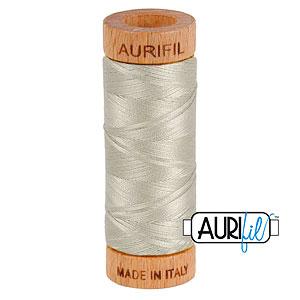 Gray - AURIFIL Cotton Thread - Solid 80 Wt - Light Gray