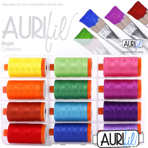 Bright Collection - Aurifil Thread Set