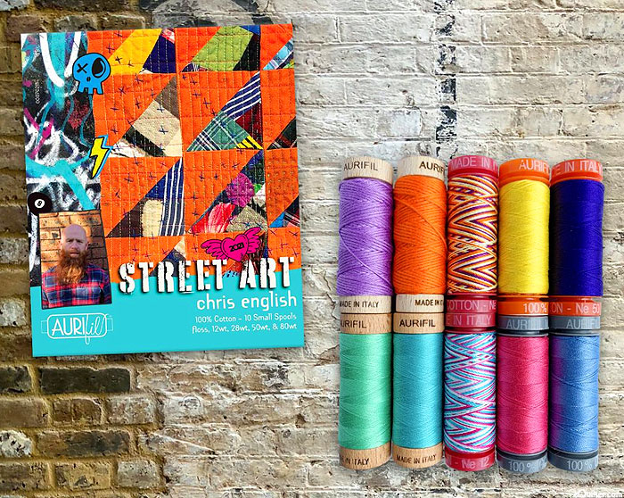 Aurifil Mixed Thread Set - Chris English - Street Art