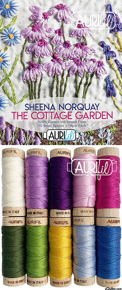 The Cottage Garden by Sheena Norquay - Aurifil Thread Set