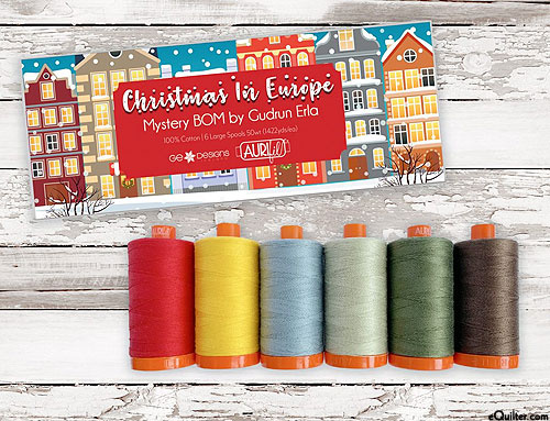 Christmas In Europe - Aurifil Thread Set