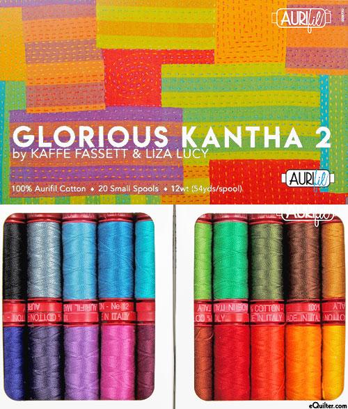 Kaffe Fassett - Glorious Kantha 2 - Aurifil Thread Set