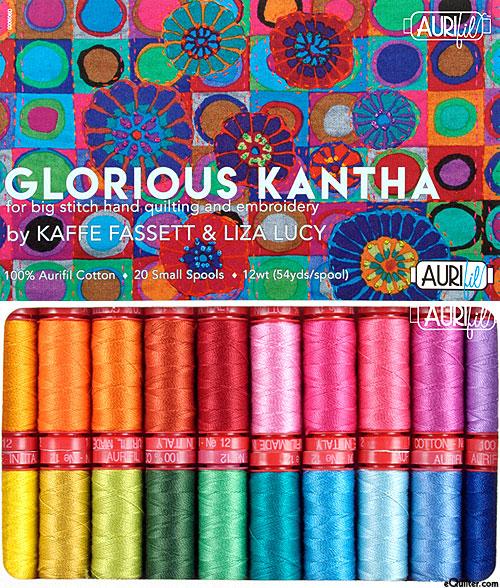 Kaffe Fassett - Glorious Kantha - Aurifil Thread Set
