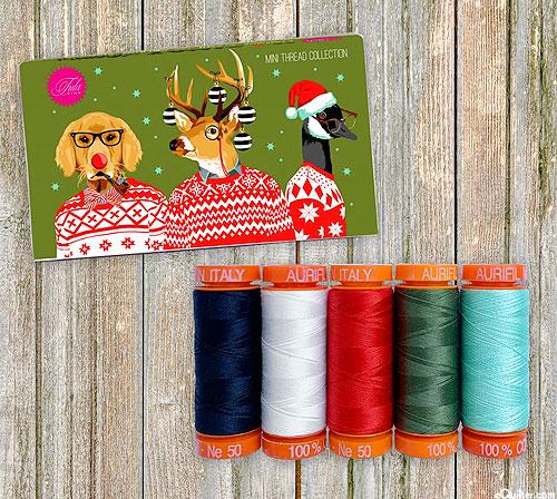 Holiday Homies by Tula Pink - Aurifil Thread Set