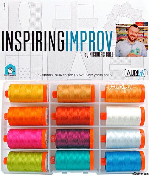 Inspiring Improv by Nicholas Ball - Aurifil Thread Set