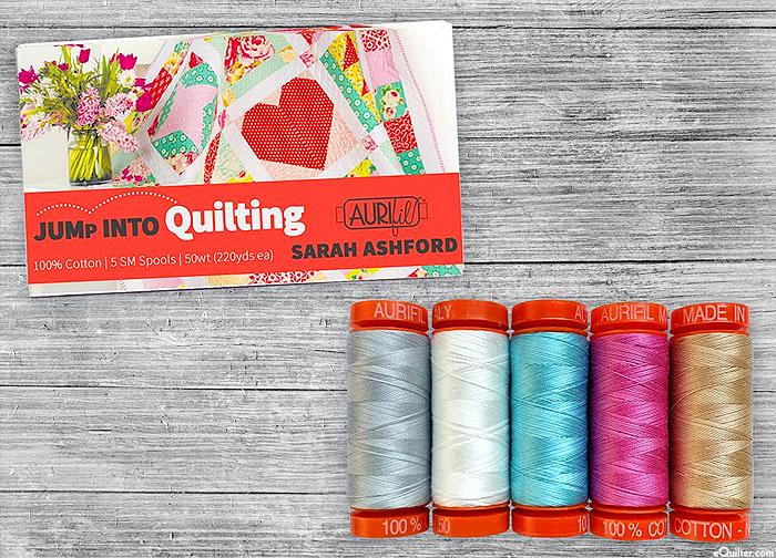 Jump Into Quilting by Sarah Ashford - Aurifil Thread Set