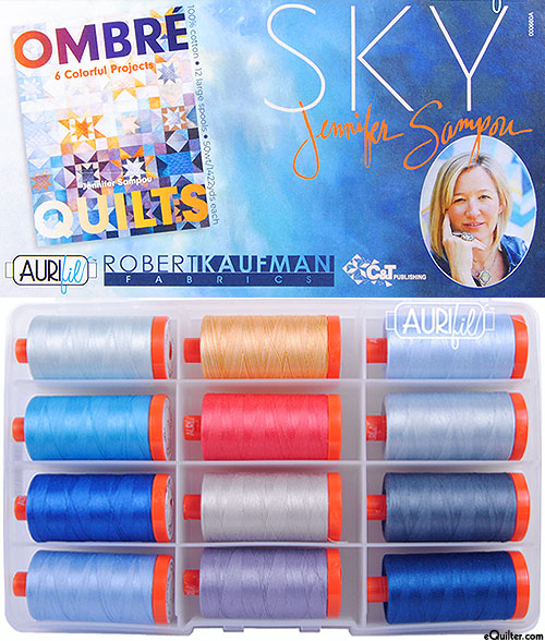 Sky by Jennifer Sampou - Aurifil Thread Set