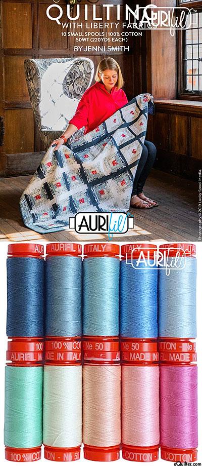 Quilting With Liberty Fabrics by Jenni Smith- Aurifil Thread Set