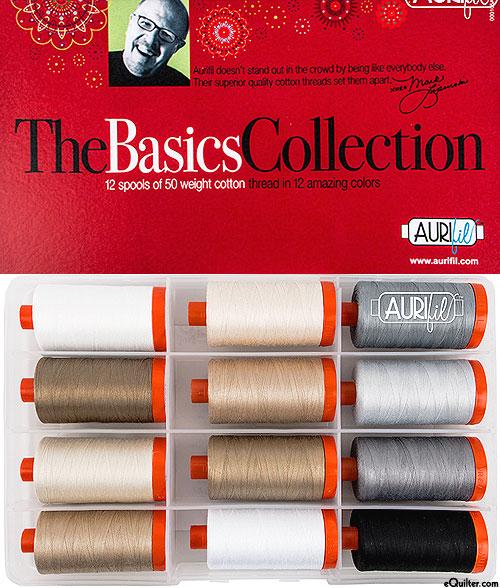 The Basics Collection by Mark Lipinski - Aurifil Thread Set