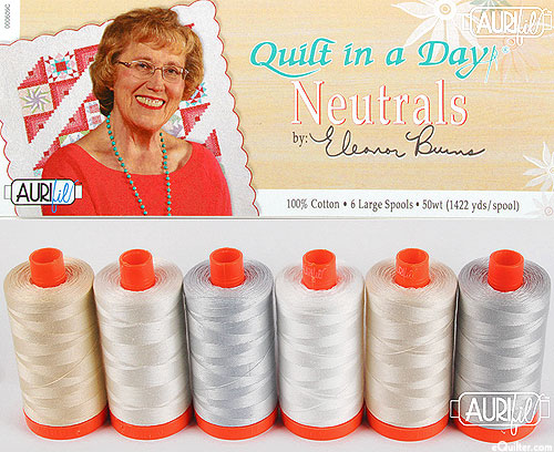Eleanor Burns - Quilt in a Day Neutrals - Aurifil Thread Set