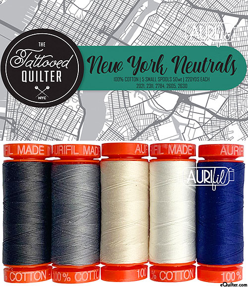 New York Neutrals - Aurifil Thread Set