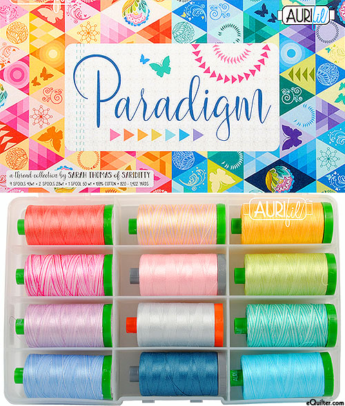 Paradigm by Sarah Thomas - Aurifil Thread Set