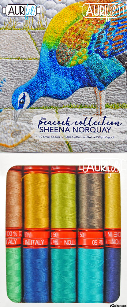 The Peacock Collection - Aurifil Thread Set