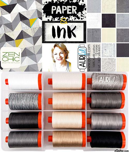 Paper & Ink by Brigitte Heitland - Aurifil Thread Set