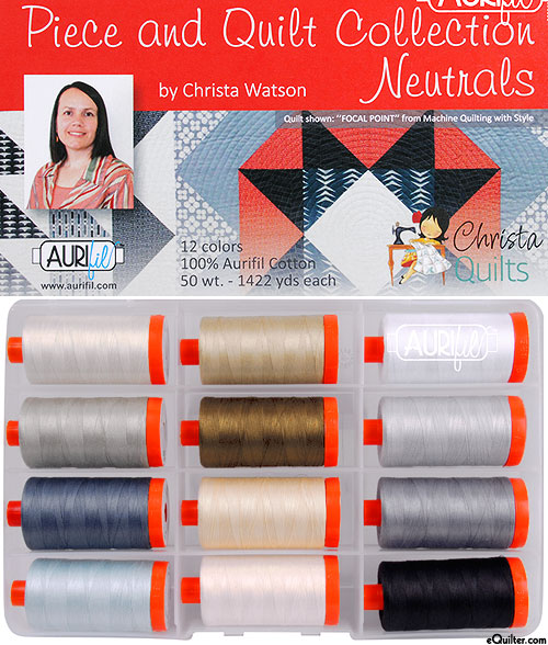 Piece & Quilt Collection - Neutrals - Aurifil Thread Set
