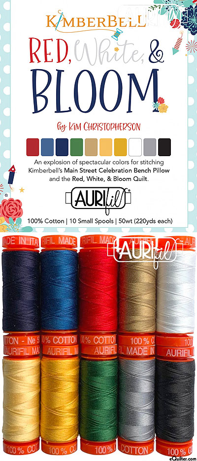 Kimberbell Red, White & Bloom - Aurifil Thread Set