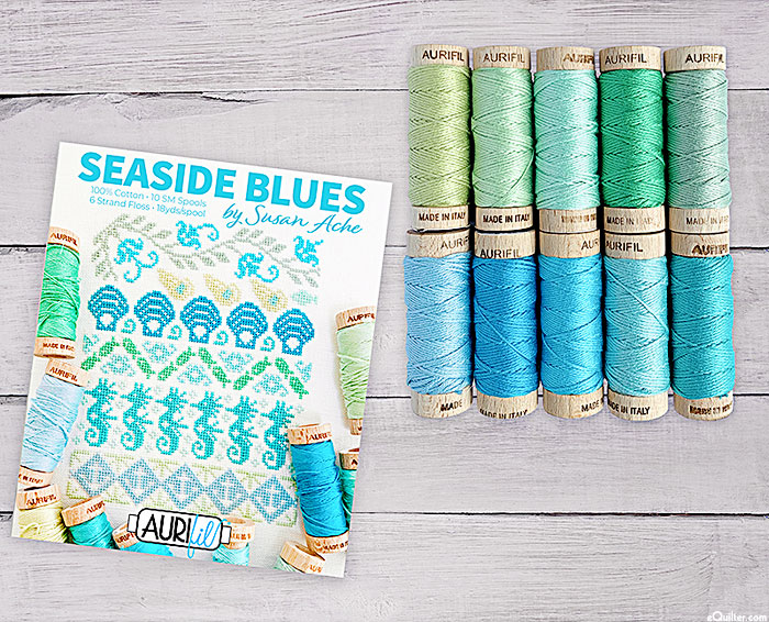 Aurifil Floss Set - Seaside Blues