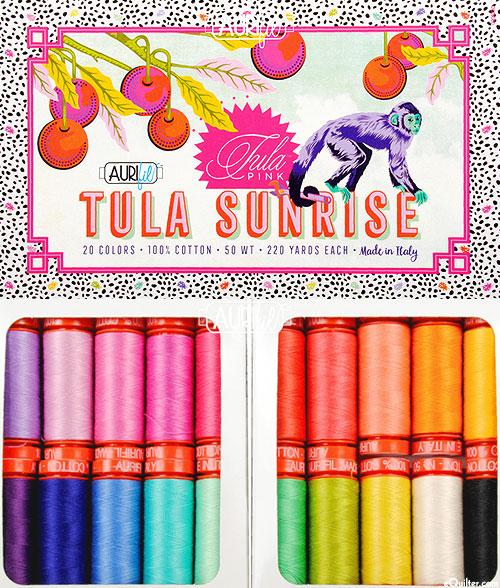 Tula Sunrise by Tula Pink - Aurifil Thread Set