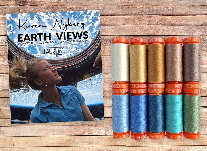 Aurifil Thread Set - ISS Astronaut Karen Nyberg -Earth Views