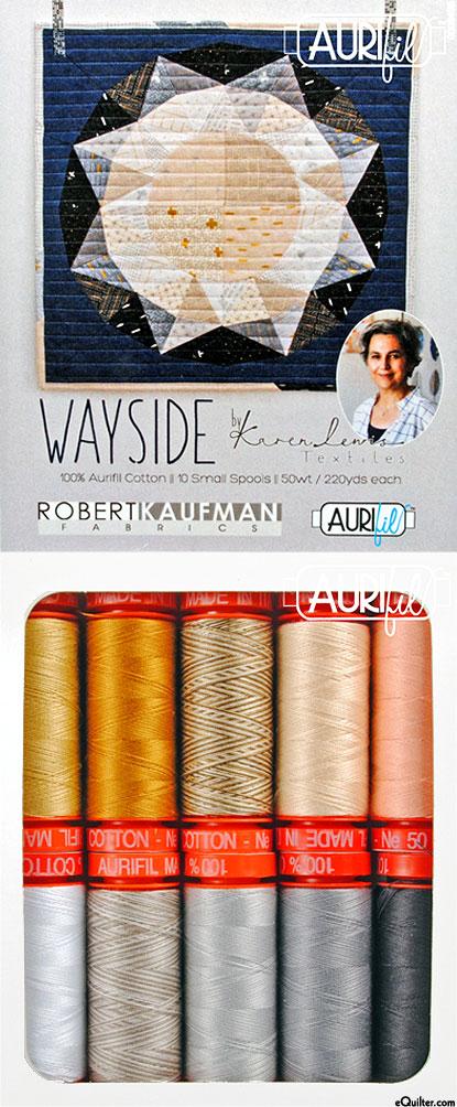 Wayside by Karen Lewis - Aurifil Thread Set