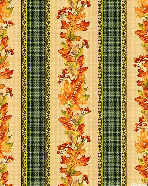 Autumn Elegance - Maple Garland Stripe - Natural/Gold
