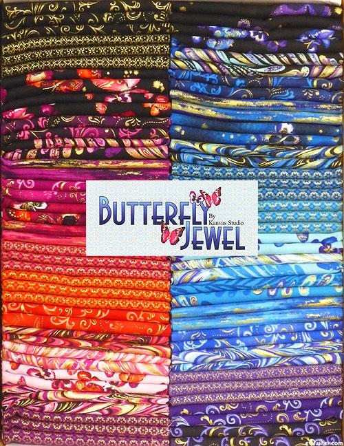 Butterfly Jewel - Metallic Fat Quarter Box
