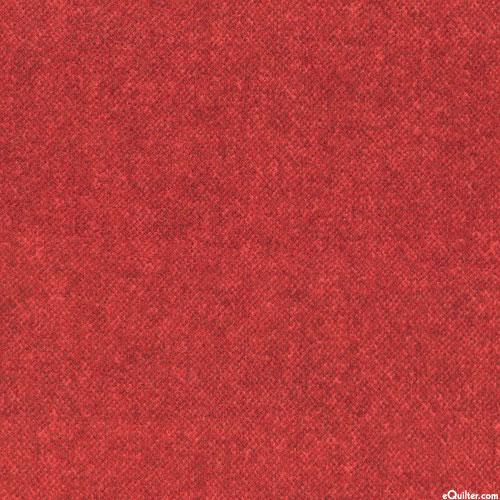 Winter Warmth - Tweedy Tonal - Cinnamon Red - FLANNEL