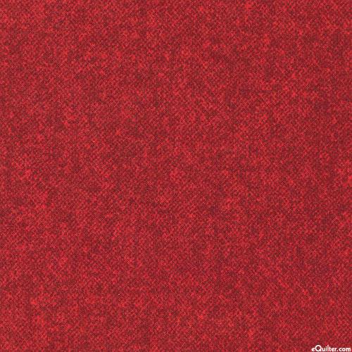 Winter Warmth - Tweedy Tonal - Ruby Red - FLANNEL