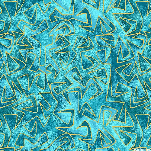 Believe in Unicorns - Triangular Motion - Teal/Gold