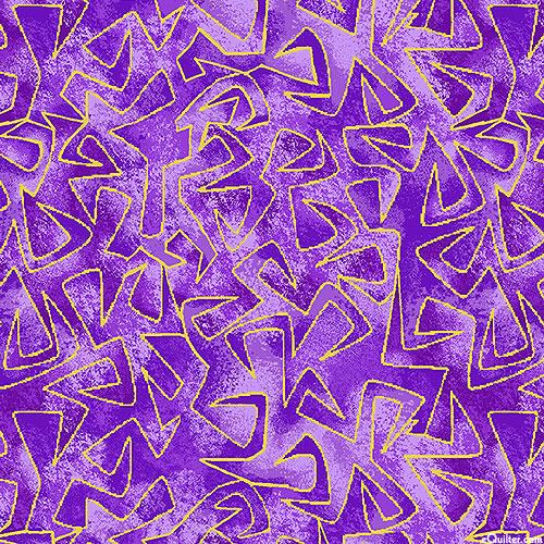 Believe in Unicorns - Triangular Motion - Amethyst/Gold