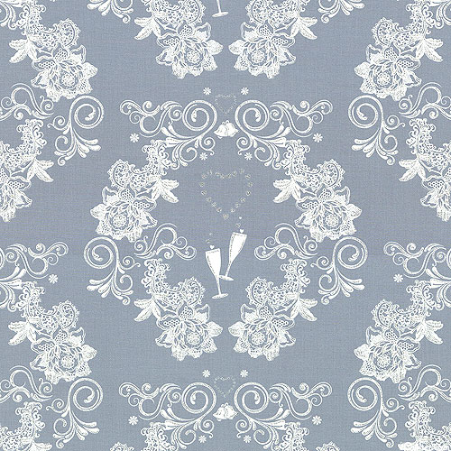 I Thee Wed - Wedding Toast Wreath - Pewter Gray/Glitter